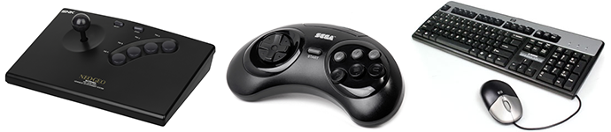 Classic controllers for arcade machines, consoles and computers